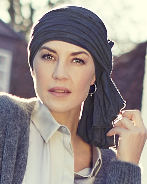 Christine Headwear - Turban TULA Blau-melange 1366-0391
